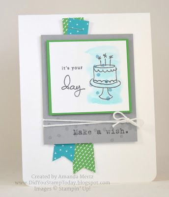 Did You Stamp Today?: Bermuda Birthday Cake - Fab Friday 83 - Stampin' Up! Endless Birthday Wishes