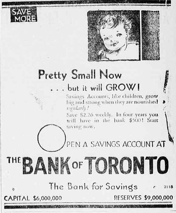 Found in the Aug.13, 1931 issue of the Barrie Examiner
