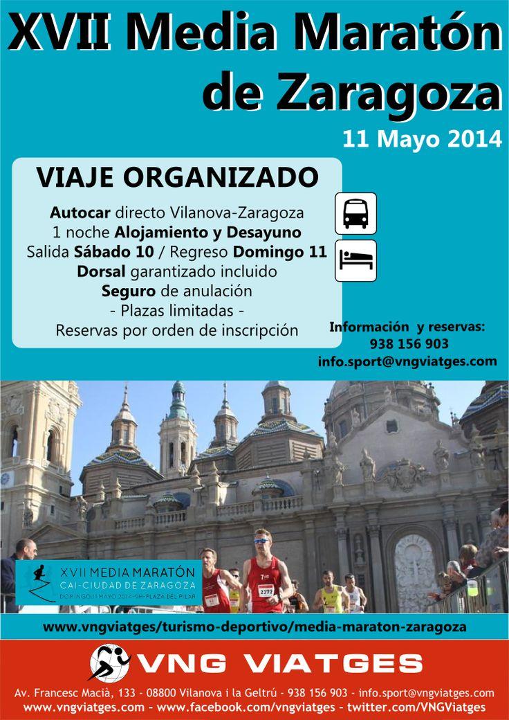 Viaje deportivo organizado a la Media Maratón de Zaragoza 2014 - VNG Viatges