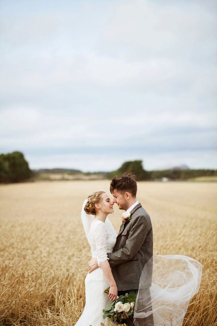 A Watters Wtoo Dress and Tassled Shawl for A Beautiful, Scottish Wedding in the Woods
