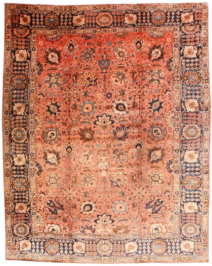 Antique Persian Tabriz Rug Bb4628 By Doris Leslie Blau