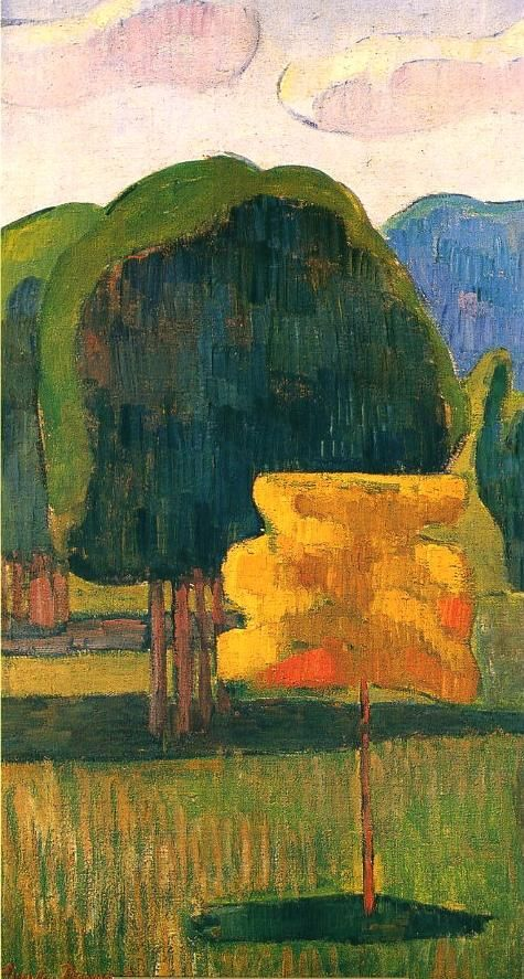 L'arbre jaune - 1888 - Emile Bernard