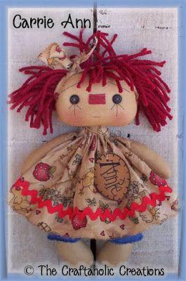*RAGGEDY ANN ~ The Craftaholic Creations: E-Patterns ~ $8 each