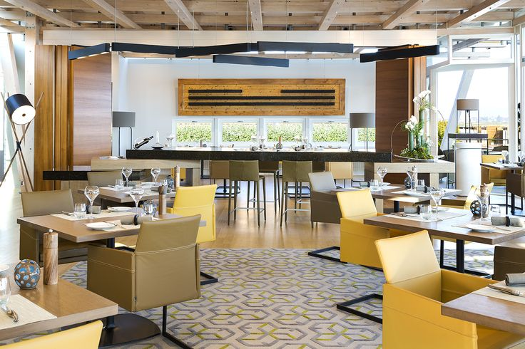 "Restaurant ""La Table de Palafitte"" with view on lake Neuchatel"