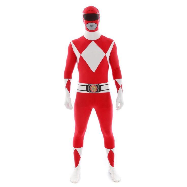 "Official Power Ranger Morphsuit Costume,Red,Large 5'4""-5'10"" (163Cm - 177Cm)"