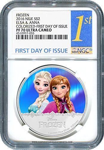 2016 NU Disney Frozen Series: Elsa & Anna - Certified NGC PF70 FIRST DAY OF ISSUE $2 PF70 NGC FIRST DAY OF ISSUE @ niftywarehouse.com #NiftyWarehouse #Frozen #FrozenMovie #Animated #Movies #Kids