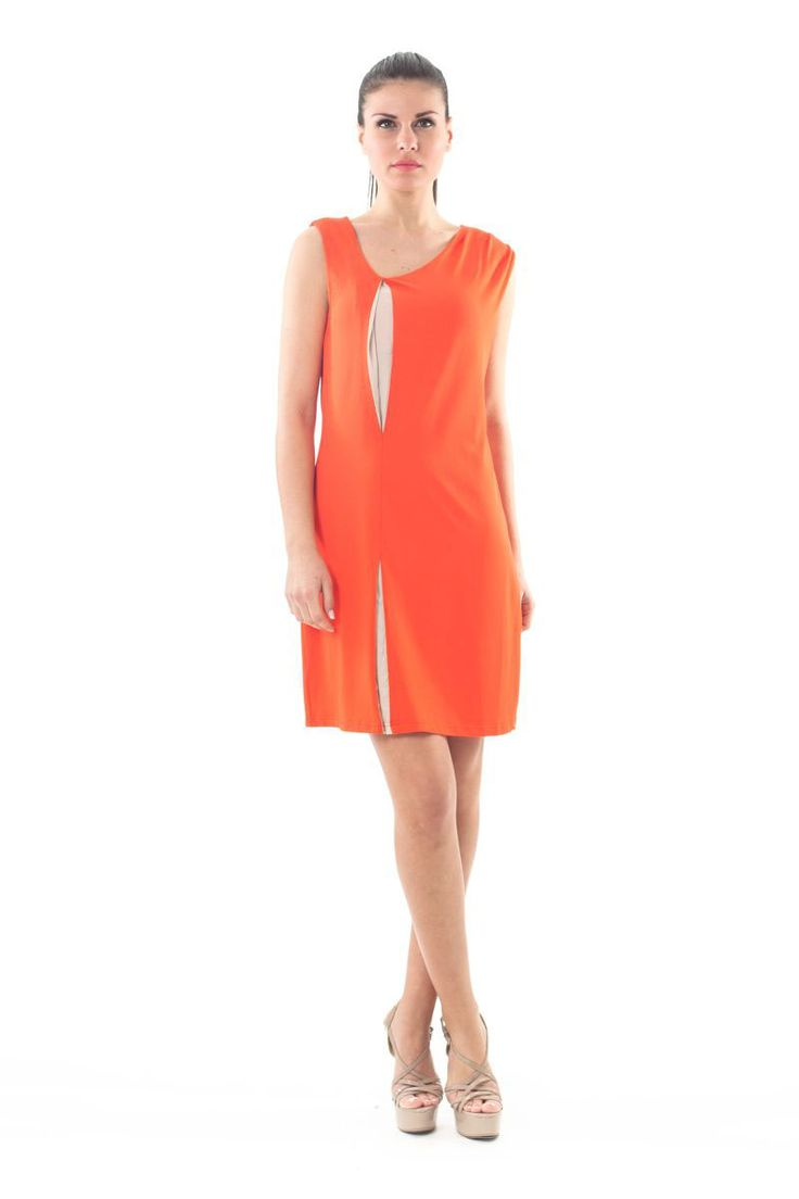 Vivid color, pleat details and SPECIAL PRICE for this unique #Conquista dress! From 89,90€ ONLY 29,90€ find your perfect fit the link below. #orange #neon #pleat #dress #perfect #style