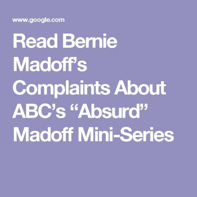 """Read Bernie Madoff's Complaints About ABC's """"Absurd"""" Madoff Mini-Series"""