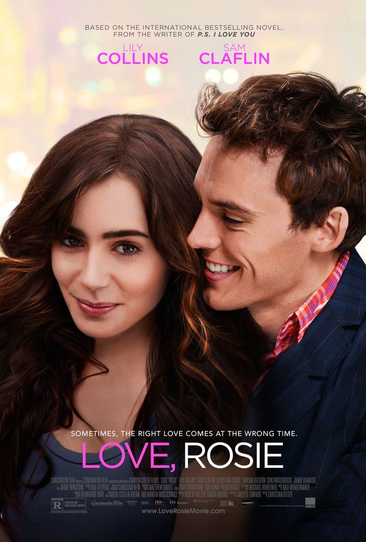 Sam Claflin & Lily Collins in the official poster for Love, Rosie! In select