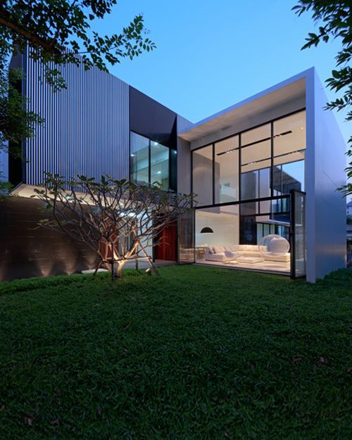 31 best images about l shaped house design on pinterest for Modern thai house design