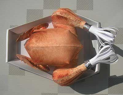 Pollo asado de papel