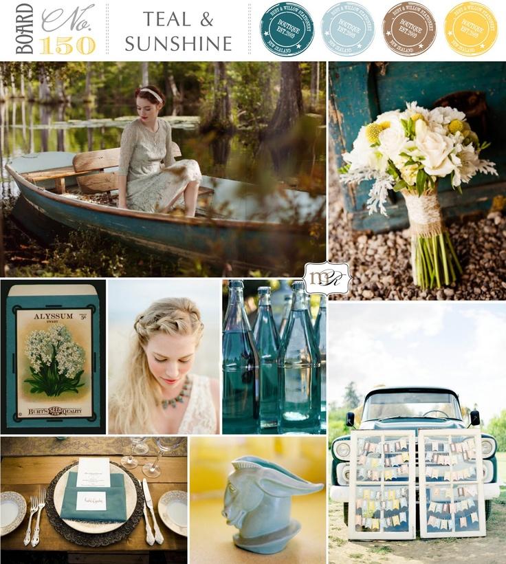 Magnolia Rouge: Board#150: Teal & Sunshine