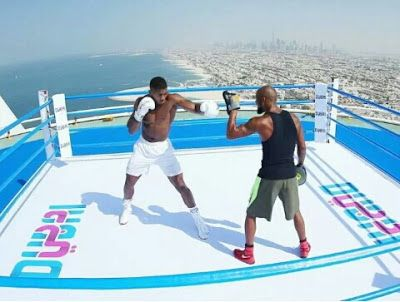 BREAKING : See Anthony Joshua trains on World's Highest Boxing Ring.