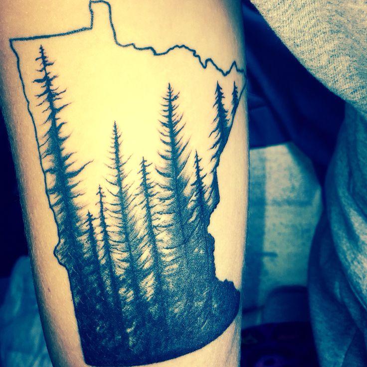Best Minnesota Tattoo Ideas On Pinterest Tree Tattoos - Us map with white burd tattoo