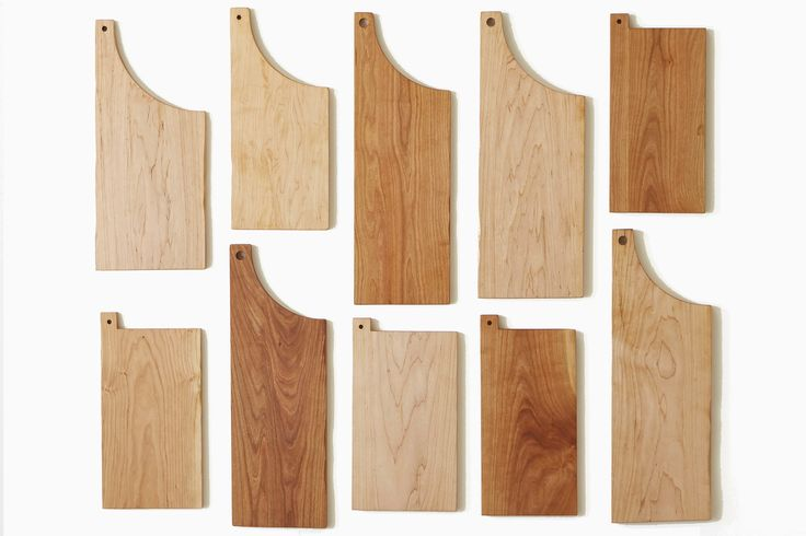 LC and SS cutting boards in cherry and maple. James East Design.