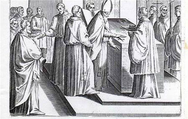 CONSAGRACIÓN DEL TEMPLO El obispo traza cinco cruces con el Óleo de los Catecúmenos y otras cinco con el Santo Crisma...
