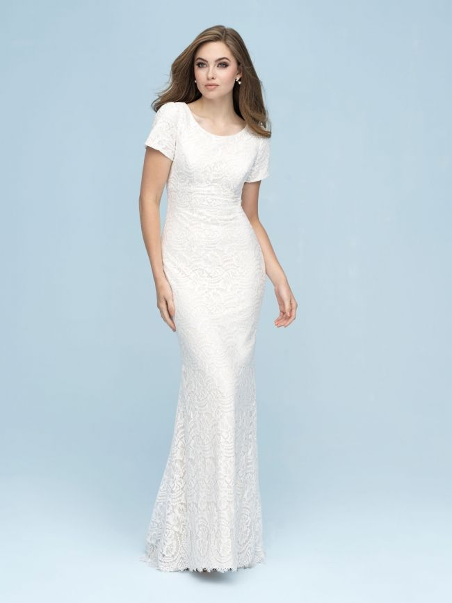 Modest Wedding Dress From Fantasy Bridal Modest Fitted T Shirt