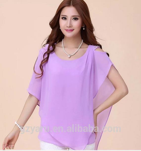 Nuevos modelos de fotos de la gasa blusas-imagen-Tallas grandes de Camisas y Blusas-Identificación del producto:60069310713-spanish.alibaba.com