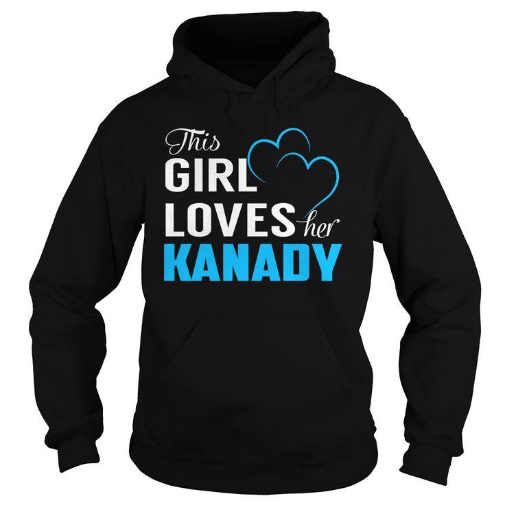 This Girl Loves Her KANADY - Last Name, Surname T-Shirt