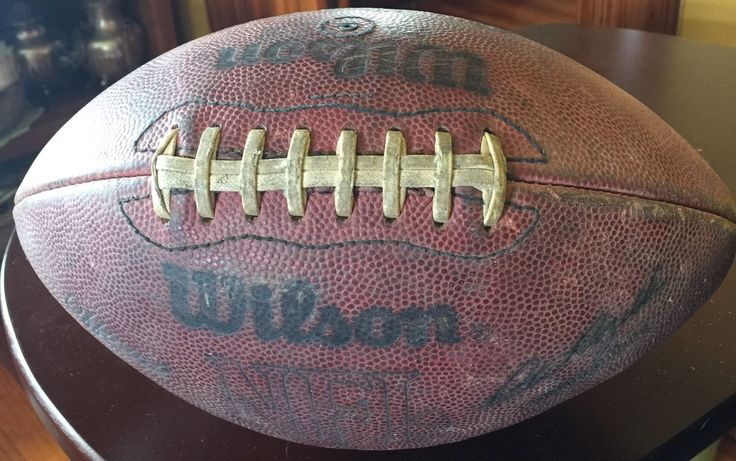 Vintage Wilson Official NFL Football Pete Rozelle Commissioner American Conferen
