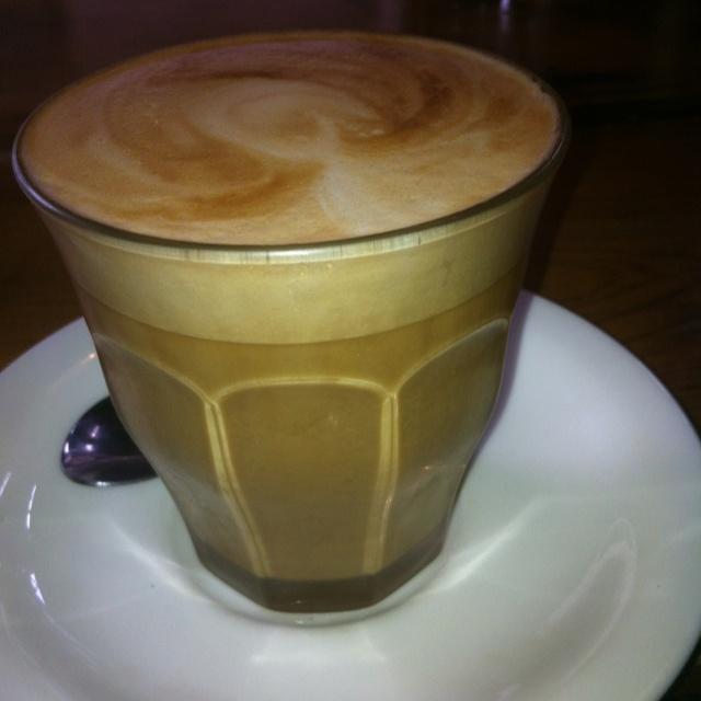 Soy latte @ Gunshop Cafe, West End