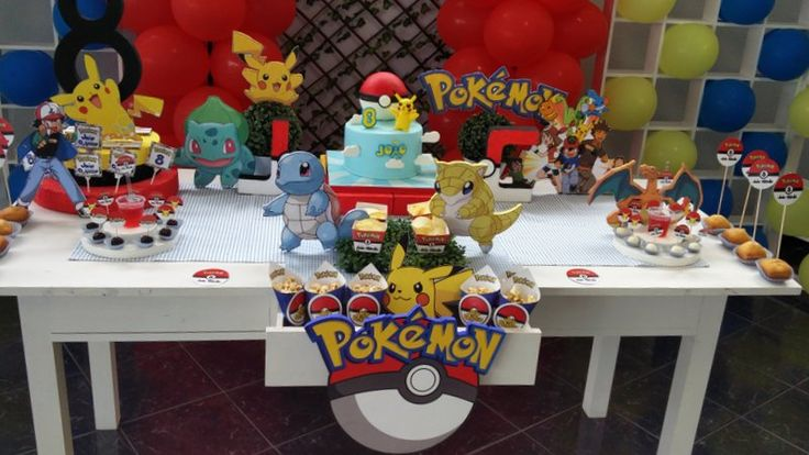 """Pikachu - Pokémon - Mesa decorada por """"Sonhos à Medida"""" - https://www.facebook.com/festassonhosamedida/"""