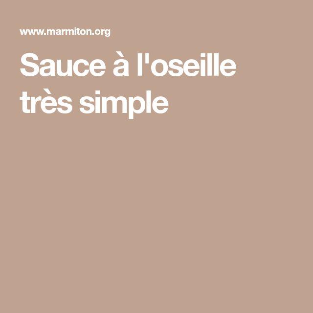 Sauce à l'oseille très simple
