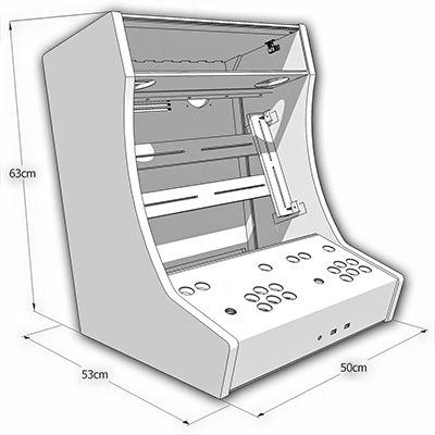 Kit Bartop 2 joueurs : Kit Bois/polycarbonate pour auto-construction d'un Bartop 2 joueurs