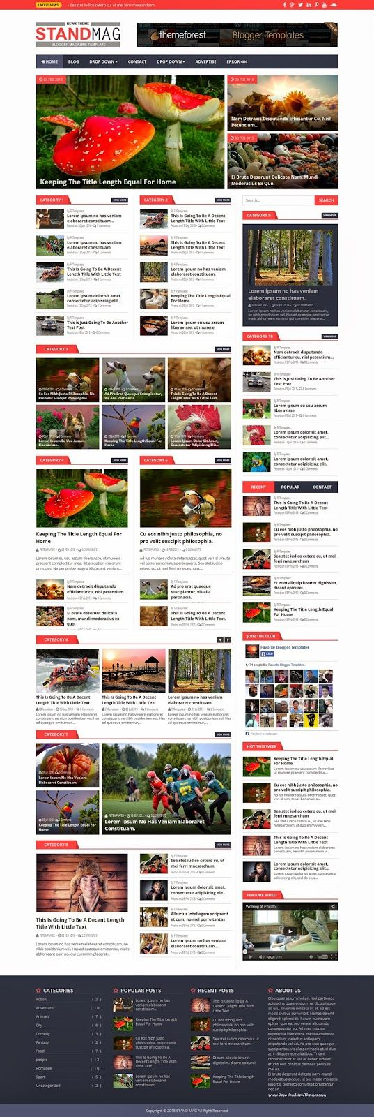 76 best images about Best Responsive Blogger Template Collection ...
