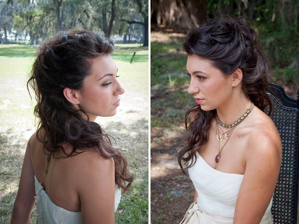 Natural, boho, wedding hair, image by Ai-Ling Chang