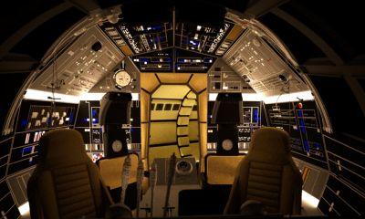 Millennium falcon cockpit google search anniversaire for Interior halcon milenario