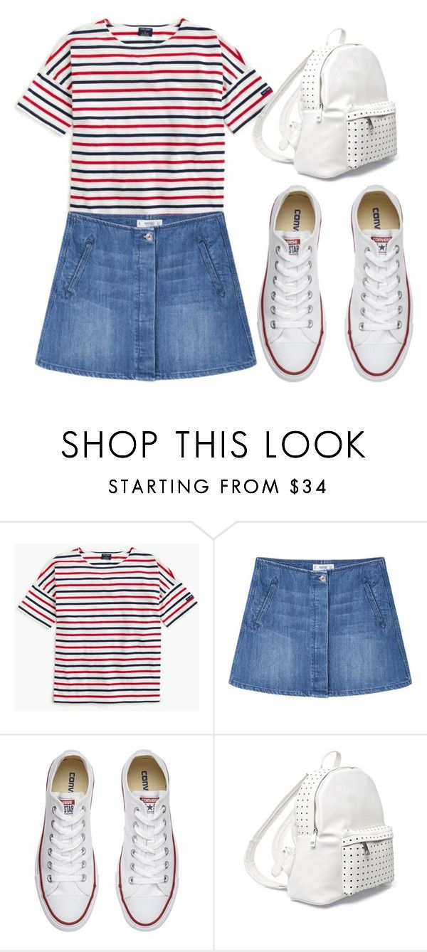 """""""Untitled #37"""" by abriellekitty ❤ liked on Polyvore featuring Saint James, MANGO, Converse and 7 Chi"""