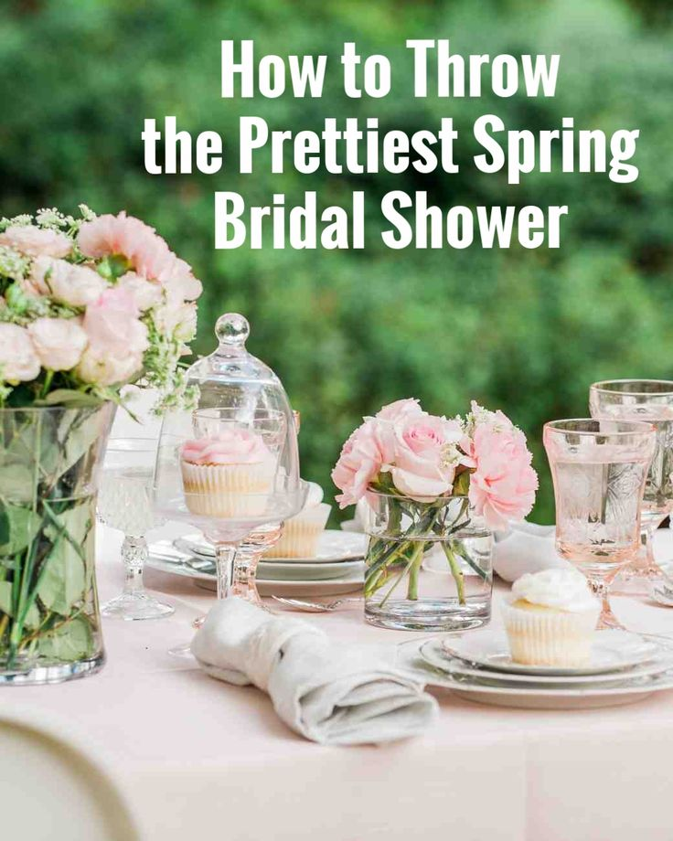 How to Throw the Prettiest Spring Bridal Shower | Martha Stewart Weddings - Amanda S. Gluck, founder of the style blog Fashionable Hostess, is sharing her best tips for throwing the perfect spring bridal shower. Amanda has styled some pretty amazing brunches, dinner parties, showers, and more so she definitley knows a thing or two about hosting a chic party! Click through for serious inspiration—from floral ideas to décor to menu suggestions.