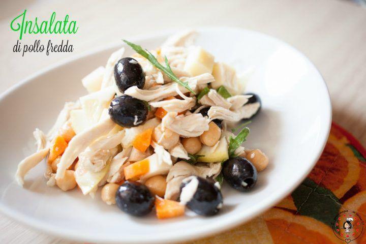 Insalata di pollo fredda, con limone, freschissima! #gialloblogs #pollo #insalatadipollo #insalata #piattofreddo #limone