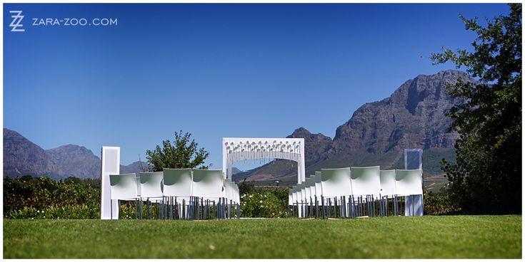 Outdoor Wedding Ceremony at Vrede en Lust, Franschhoek, South Africa - ZaraZoo Photography