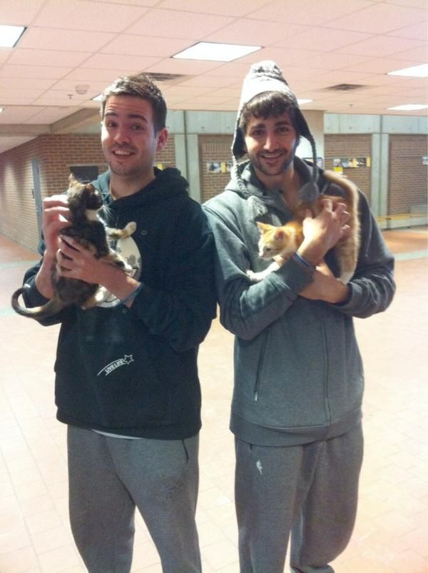 Ricky Rubio and Brother, Crazy Cat Ladies  Ricky may be the only person in the world that could make me tolerate cats.