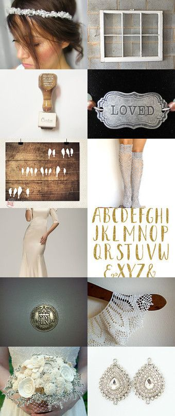 Vintage wedding <3 by HuesShop on Etsy--Pinned with TreasuryPin.com