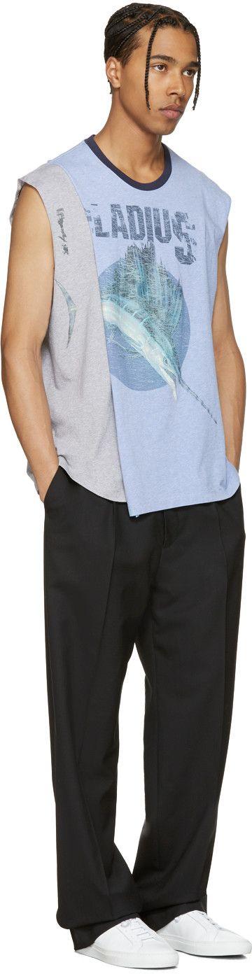 Maison Margiela - Blue Pladius Layered Muscle T-Shirt