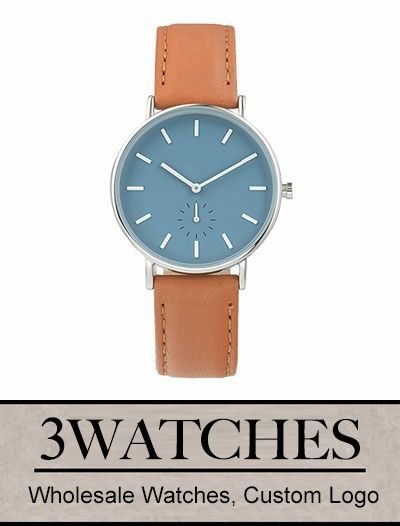 Thehorse Wholesale Watches. Custom Logo. Sea Salt Blue / Tan Leather. Visiting: http://www.3watches.com/horse-watch/