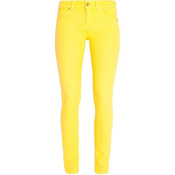 7 FOR ALL MANKIND Cristen Colored Skinny Jeans ($300) ❤ liked on Polyvore