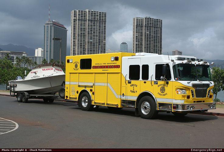 hawaii fire department | ... Rescue Honolulu Fire Department Emergency Apparatus Fire Truck Photo