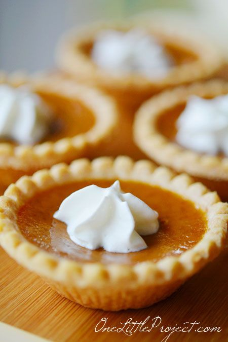 Mini Pumpkin Pies Recipe! These are so easy and you might actually ...