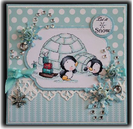 Another card using the same image from Lili of ghe Valley