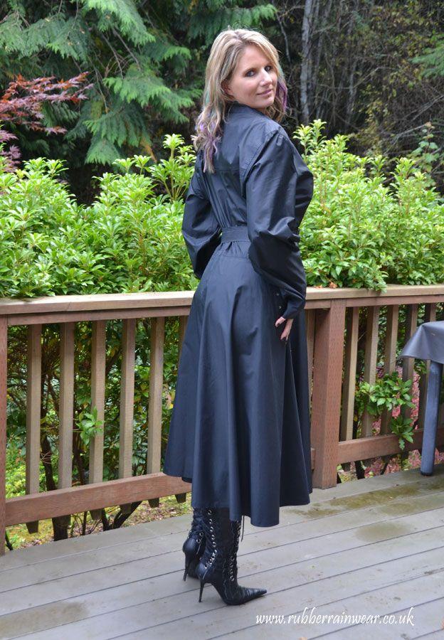 A Very Chic Caroline Rainy Days Rubber Raincoats Pvc