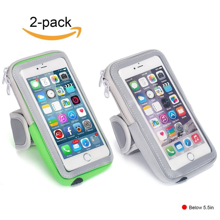 """Lulutus Sports Armband Cell Phone Holder Case Arm Band Strap With Zipper Multifunctional Pockets Workout for iphone7P/6sP,Samsung Galaxy S8/S7/S6,iphone7/iphone6s,Small,Gray&Green. TWO SIZE - 6.3""""L * 3.5""""W/7.4""""L * 3.9""""W,Small size perfect fit for universal armband for phones 5.5in or less.Large size suitable for all smartphones less than 6.2 inch,like iphone 7 Plus/6 Plus/6s Plus/Samsung Galaxy S8+,etc. MATERIAL - The arm bag made of high quality waterproof PVC and Premium Nylon/Neoprene…"""