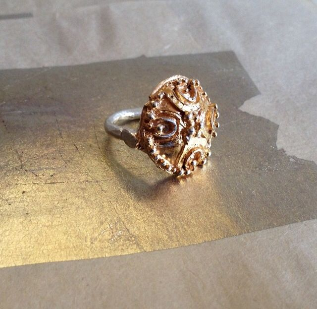 My Pompeii ring by Katherine Bowman (Gold plated sterling silver)