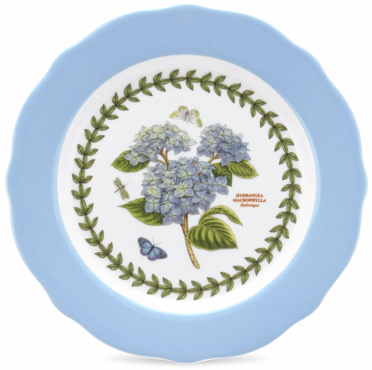 Portmeirion botanic garden set of 4 dessert plates each for Portmeirion dinnerware set of 4 botanic garden canape plates