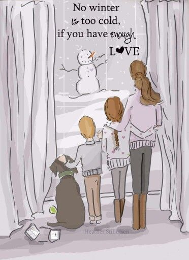 Enough LOVE- Family Wall Art Print -Winter Wall Art - Digital Art Print - Wall…