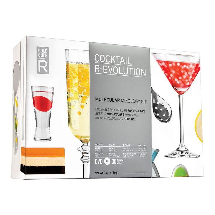 Molecule-R Cocktail R-Evolution Molecular Mixology Kit, Multicolor