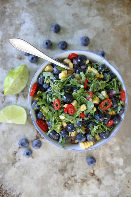 Blueberry, Corn and Basil SalsaSalad, Blueberries Corn, Food, Healthy Eating, Salsa Recipe, Blueberries Recipe, Heather Christo, Basil Salsa, Salsa Heatherchristo